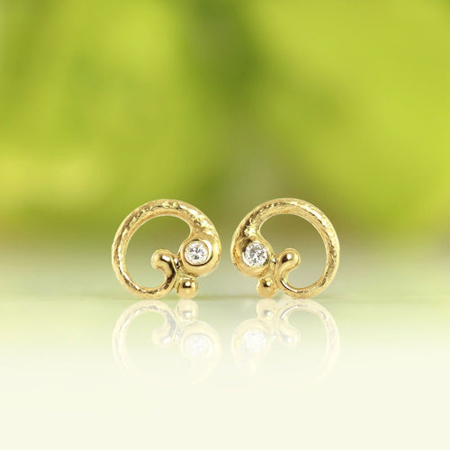 18kt Yellow Gold Rocaille Earrings