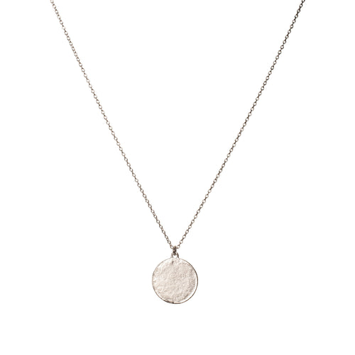 Sterling Silver Disc Necklace Large ,[product vendor],JewelStreet