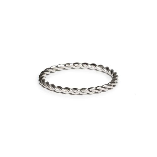 Sterling Silver Narrow Rope Ring