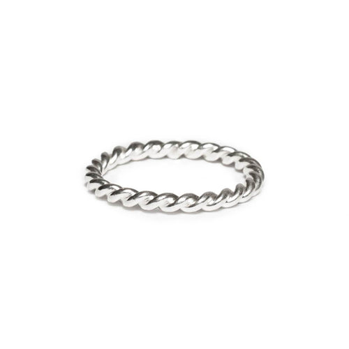 Sterling Silver Wide Rope Ring