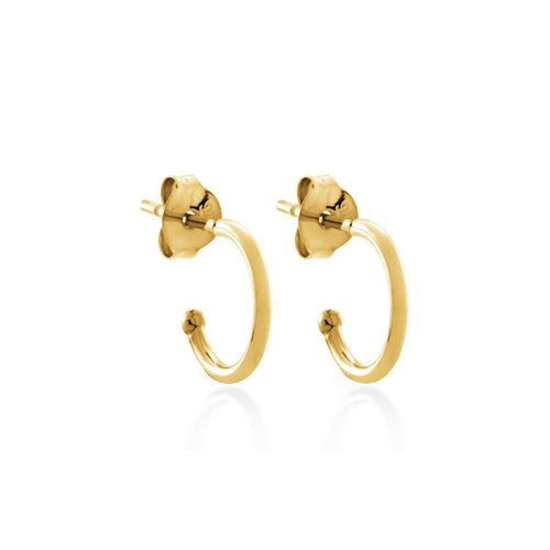 Yellow Gold Plated Round Hoop Earrings ,[product vendor],JewelStreet