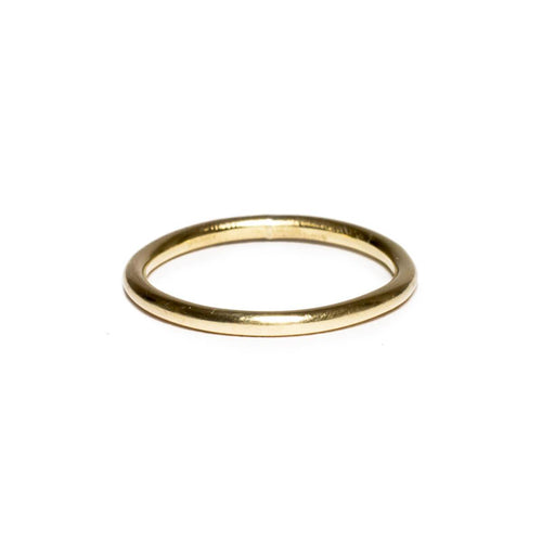 Yellow Gold Plated Round Wire Ring