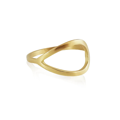 18kt Yellow Gold Silver Linings Signature Ring ,[product vendor],JewelStreet