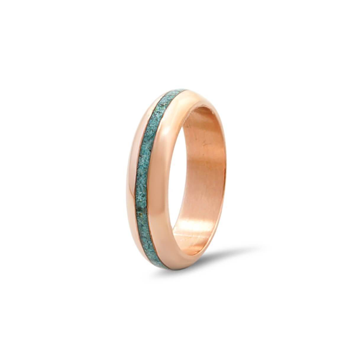 Copper With Turquoise Ring