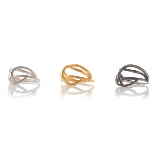 Sterling Silver Small Tangled Ring ,[product vendor],JewelStreet