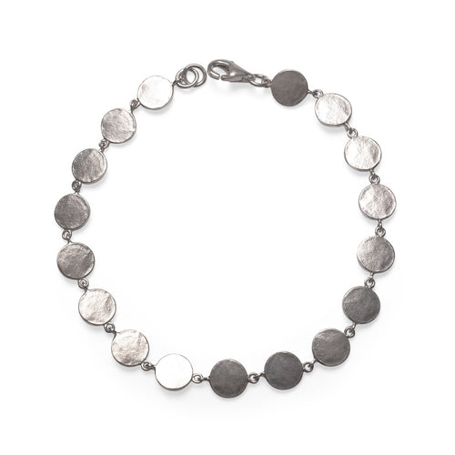 Sterling Silver Stepping Stone Bracelet ,[product vendor],JewelStreet