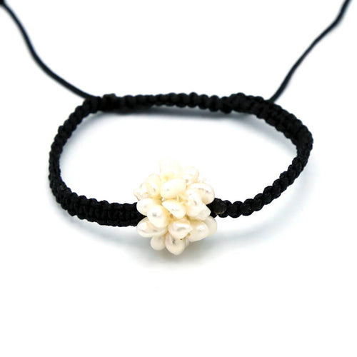 Shamballa Cluster Pearl Cord Bracelet ,[product vendor],JewelStreet