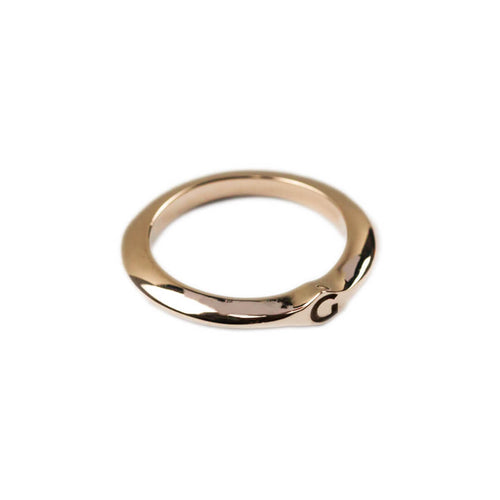 14kt Rose Gold Signet Ring C ,[product vendor],JewelStreet