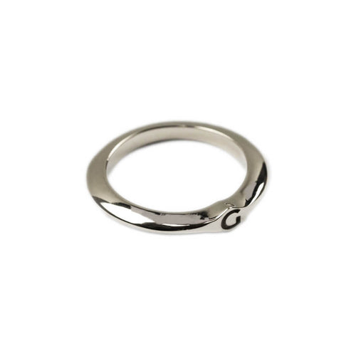 14kt White Gold Signet Ring C ,[product vendor],JewelStreet
