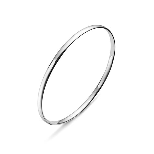 Sterling Silver Classic Bangle ,[product vendor],JewelStreet