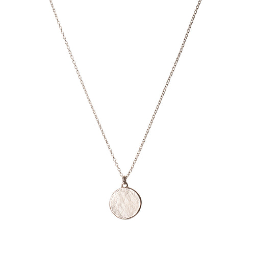 Sterling Silver Disc Necklace Small ,[product vendor],JewelStreet