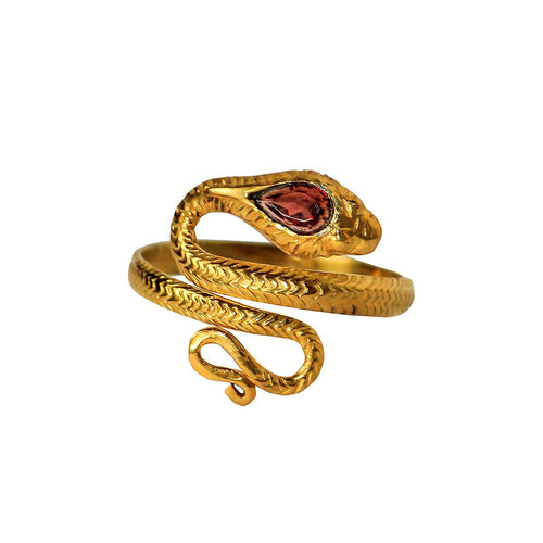 24kt Gold Plated Sterling Silver Snake Ring