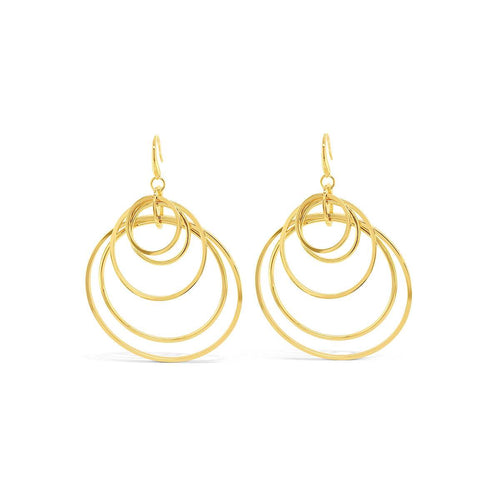 Yellow Gold Plated Travis Earrings