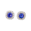 White Gold & Tanzanite Haute Bijoux Stud Earrings | Katherine LeGrand