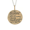 Bronze Four Agreements Hunab-Ku Adjustable Necklace