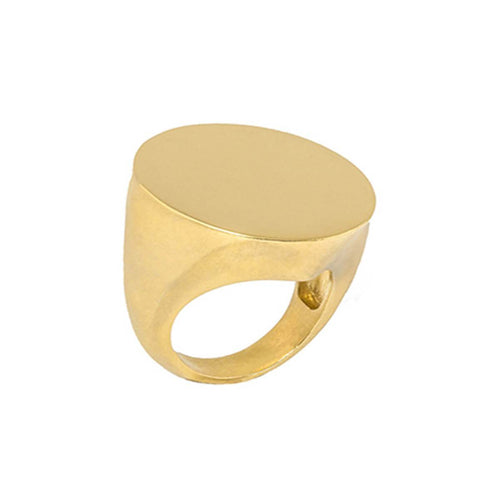 18kt Gold Dipped Maxi Signet Ring
