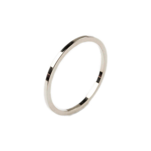 14kt White Gold Thin Essential Ring ,[product vendor],JewelStreet