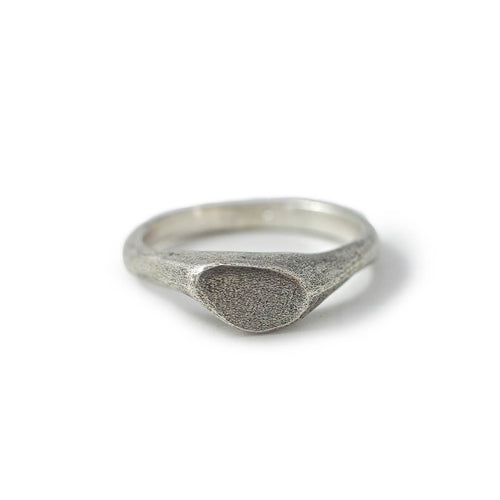 Sterling Silver Thin Minimalistic Signet Ring