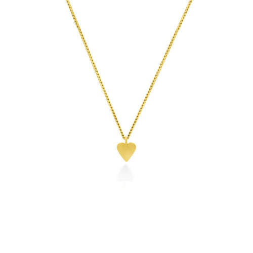 Yellow Gold Plated This Little Heart Of Mine Necklace ,[product vendor],JewelStreet