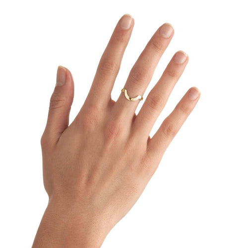 Yellow Gold Plated Small Round Stackable Ring