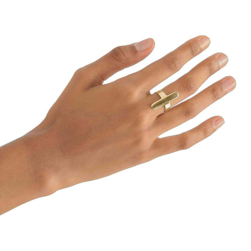 Yellow Gold Plated Oval Ring