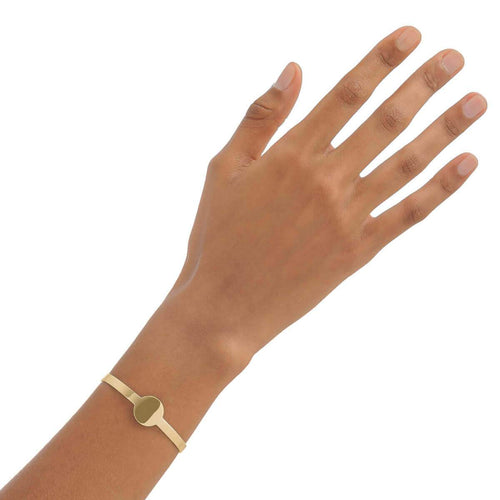 Yellow Gold Plated Round Cuff