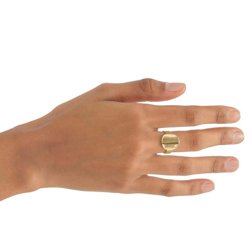 Yellow Gold Plated Round Ring