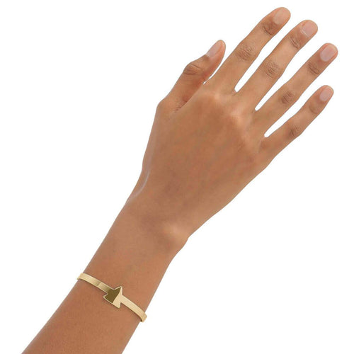 Yellow Gold Plated Triangle Cuff