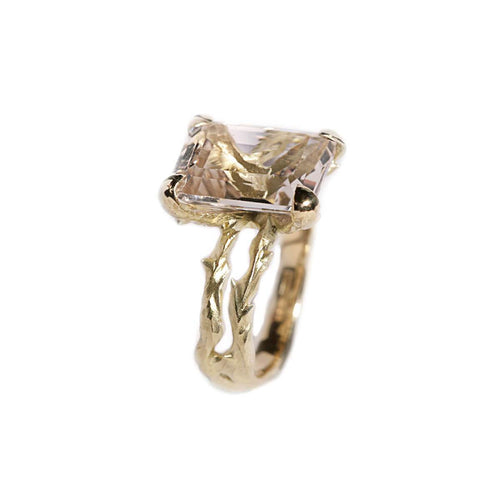 18kt Yellow Gold Topaz Thorn Ring ,[product vendor],JewelStreet