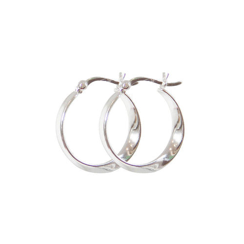 Twisted Silver Hoop Earrings ,[product vendor],JewelStreet