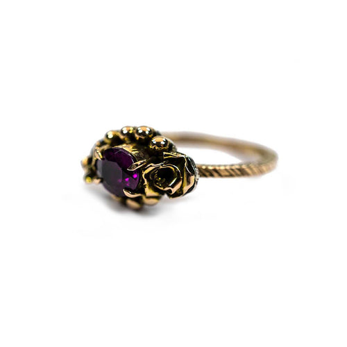 18kt Rose Gold Violet Ring