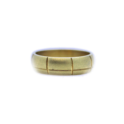 Gold Personalised Unisex Textured Wedding Band ,[product vendor],JewelStreet