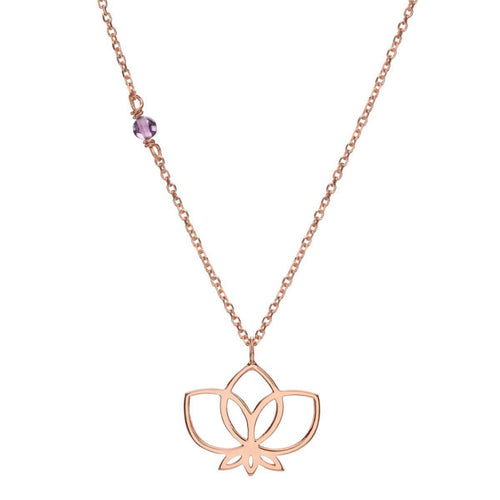Little Lotus Rose Necklace ,[product vendor],JewelStreet