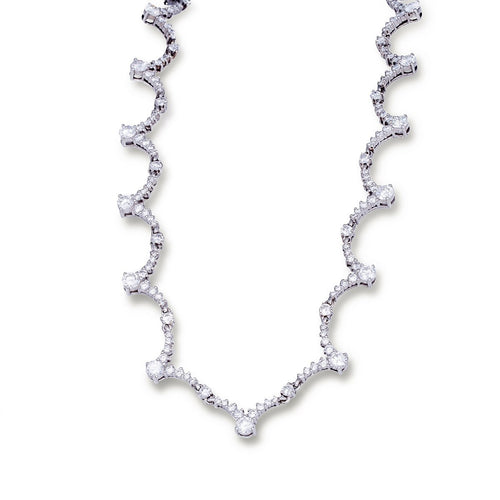 White Gold & Diamond Haute Bijoux Necklace | Katherine LeGrand