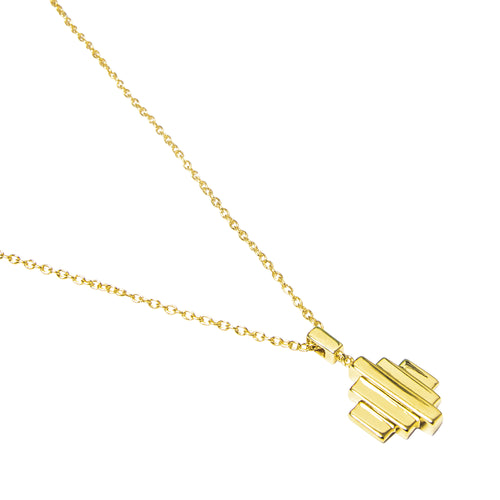 18kt Yellow Gold Vermeil Baori One Pendant Necklace ,[product vendor],JewelStreet
