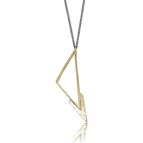 Plated Sterling Silver Ziggy Necklace