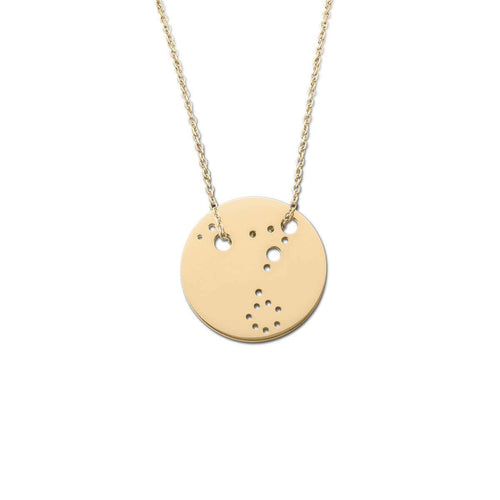 Yellow Gold Plated Pisces Zodiac Necklace