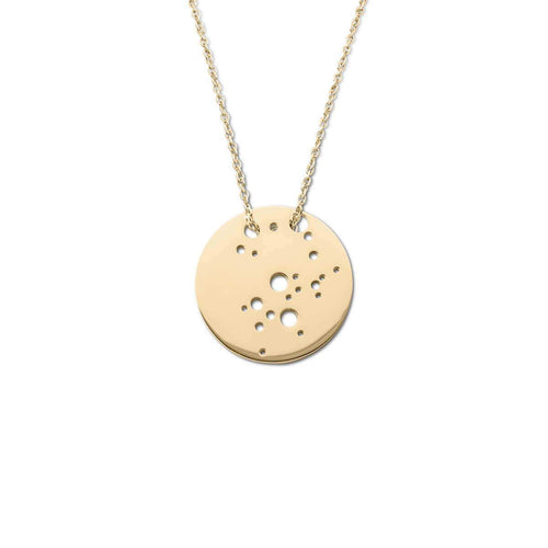 Yellow Gold Plated Sagittarius Zodiac Necklace