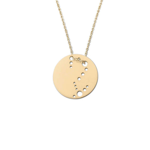 Yellow Gold Plated Scorpio Zodiac Necklace