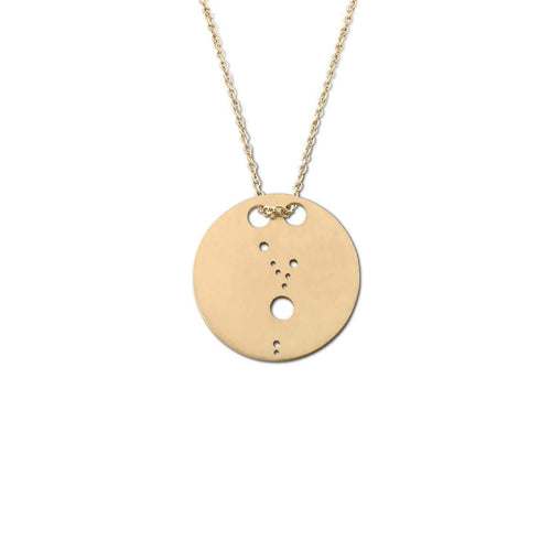 Yellow Gold Plated Taurus Zodiac Necklace