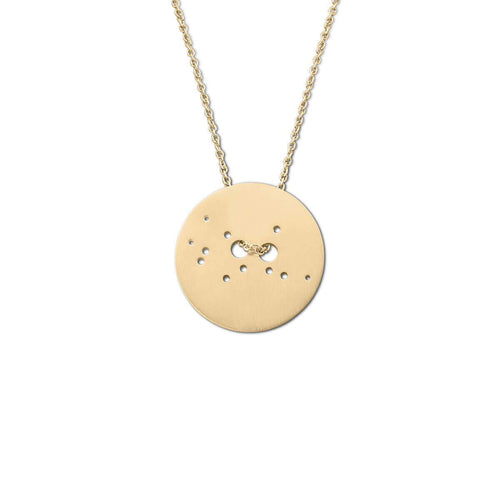 Yellow Gold Plated Virgo Zodiac Necklace