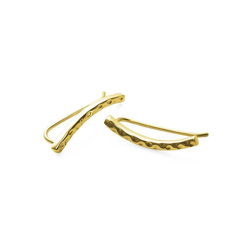 Gold Plated Silver Demi Ear Climbers ,[product vendor],JewelStreet