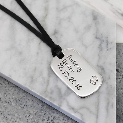 Personalised Dog Tag Necklace-Hilary&June-JewelStreet EU