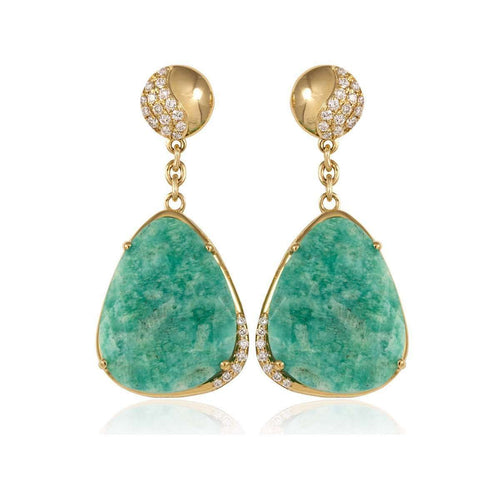 Zoe Gold Australian Opal Earrings ,[product vendor],JewelStreet