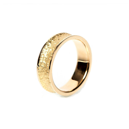 18kt Yellow Gold Textured & Polished Wedding Band I ,[product vendor],JewelStreet