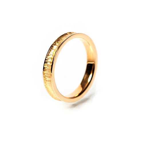 18kt Yellow Gold Textured & Polished Wedding Band II ,[product vendor],JewelStreet