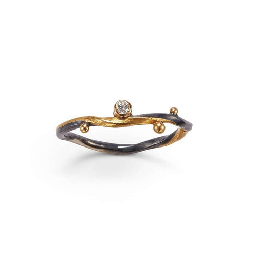 Champagne Diamond Seafire Ring-Bergsoe-JewelStreet EU