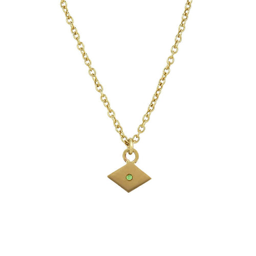 Yellow Gold Kite Charm Necklace
