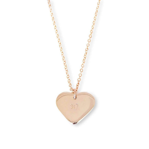 Personalised Love Heart Necklace 9kt Rose Gold-Hilary&June-JewelStreet EU