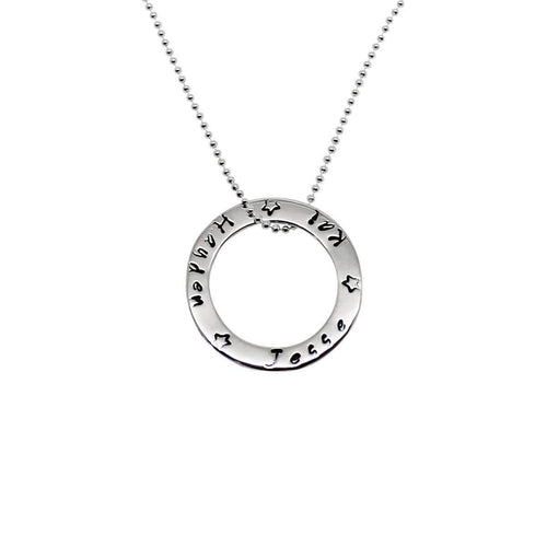 Personalised Circle of Love Necklace-Hilary&June-JewelStreet EU